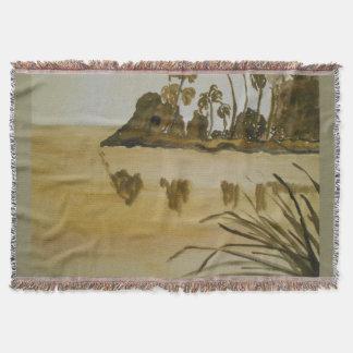 the lake throw blanket