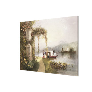 The Lake, Trentham Hall Gardens, from 'The Gardens Canvas Print