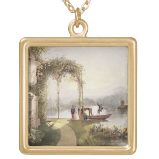 The Lake, Trentham Hall Gardens, from 'The Gardens Gold Plated Necklace