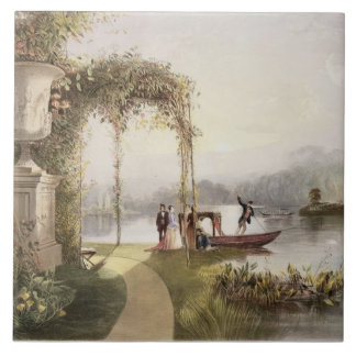 The Lake, Trentham Hall Gardens, from 'The Gardens Large Square Tile