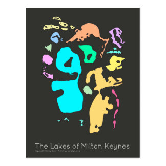 The Lakes of Milton Keynes postcard