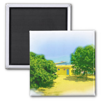 The Lakeshores of Chicago Beach 2 Inch Square Magnet