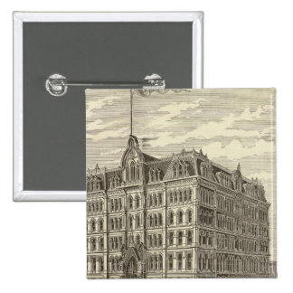 The Lakeside Building, Chicago 15 Cm Square Badge