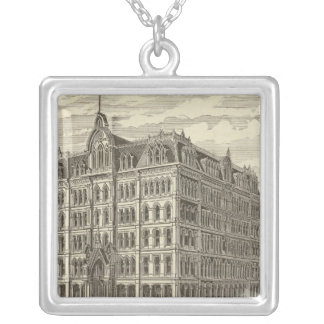 The Lakeside Building, Chicago Silver Plated Necklace