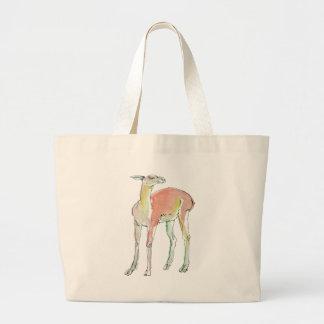 The Lama illustration Tote Bags