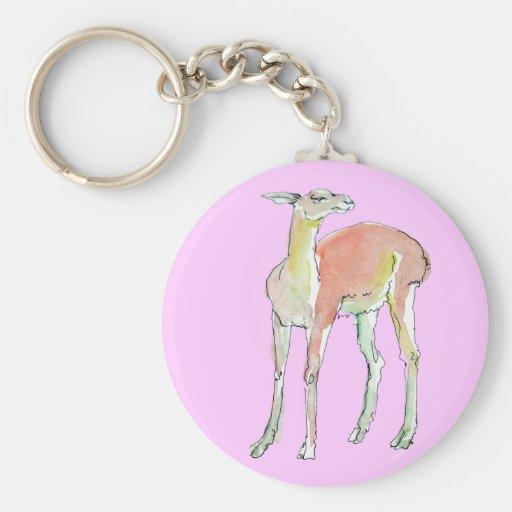 The Lama illustration Keychain