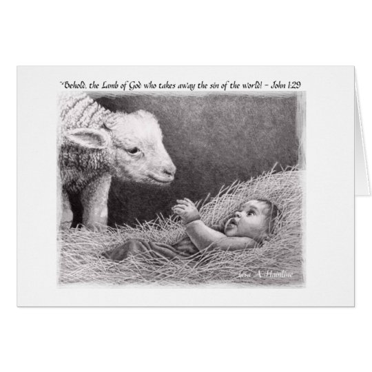 """The Lamb"" by Lisa Vento Hainline Card"