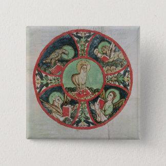 The Lamb of God 15 Cm Square Badge