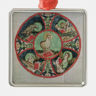 The Lamb of God Silver-Colored Square Decoration