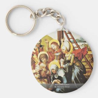 The Lamentation By Albrecht Dürer Basic Round Button Key Ring