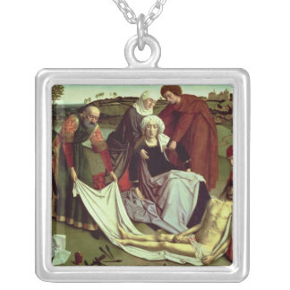 The Lamentation over the Dead Christ Silver Plated Necklace