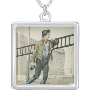 The Lamp Lighter Silver Plated Necklace
