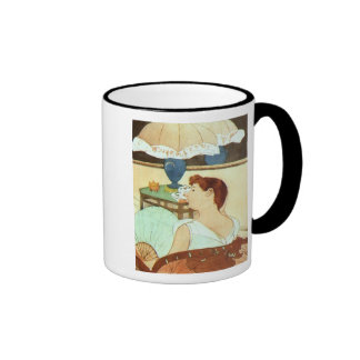 The Lamp, Mary Cassatt Ringer Coffee Mug