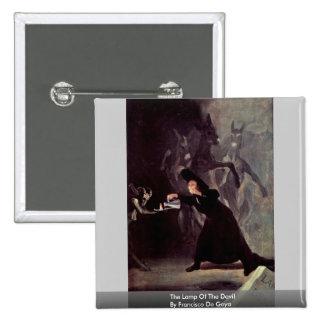 The Lamp Of The Devil By Francisco De Goya 15 Cm Square Badge