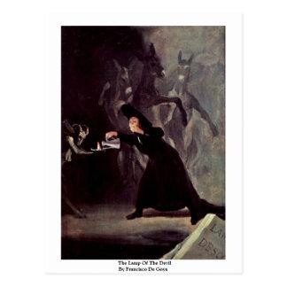 The Lamp Of The Devil By Francisco De Goya Postcard
