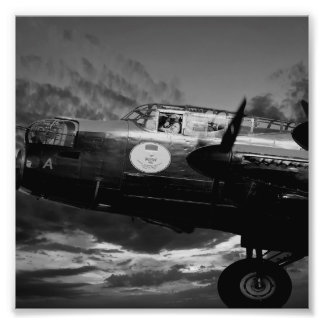 The Lancaster In Mono Photo Print