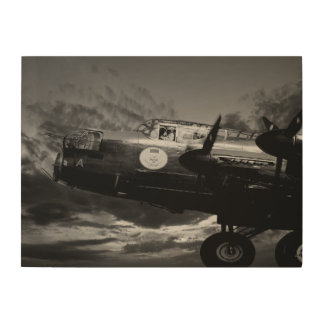 The Lancaster In Mono Wood Canvas