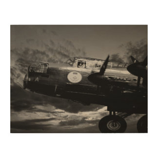 The Lancaster In Mono Wood Print