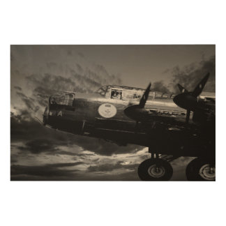 The Lancaster In Mono Wood Prints