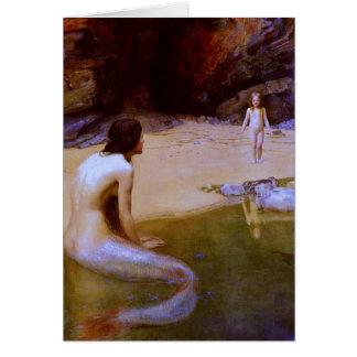 THE LAND BABY (mermaid) ~ Greeting Card