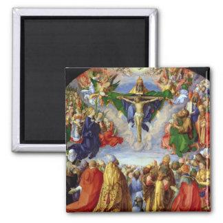 The Landauer Altarpiece, All Saints Day, 1511 Square Magnet