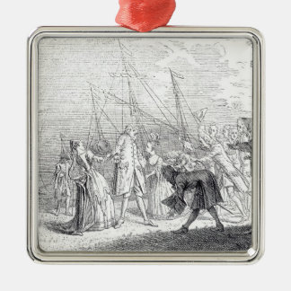 The landing in England of Senesino, 1719 Christmas Ornament