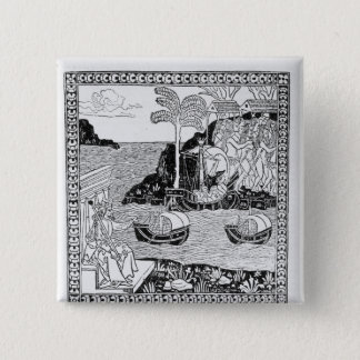 The Landing of Columbus 15 Cm Square Badge