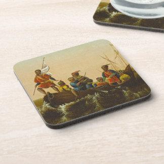 The Landing of Columbus, c.1837 (oil on canvas) Coaster