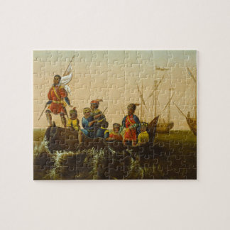 The Landing of Columbus, c.1837 (oil on canvas) Jigsaw Puzzle