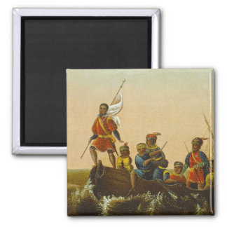 The Landing of Columbus, c.1837 (oil on canvas) Magnet