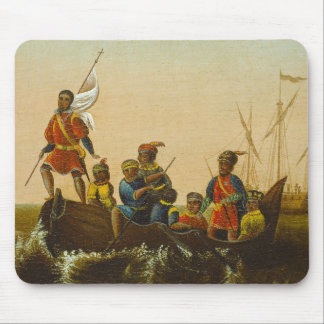 The Landing of Columbus, c.1837 (oil on canvas) Mouse Mat