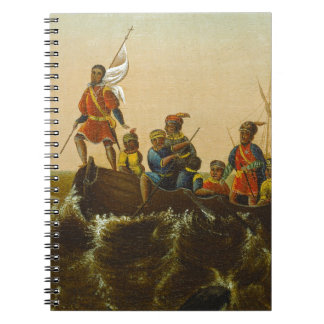 The Landing of Columbus, c.1837 (oil on canvas) Notebook