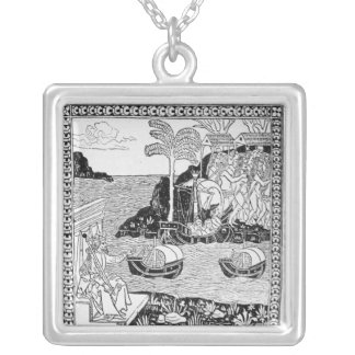 The Landing of Columbus Silver Plated Necklace