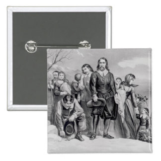 The Landing of the Pilgrims 15 Cm Square Badge