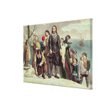 The Landing of the Pilgrims at Plymouth Canvas Print