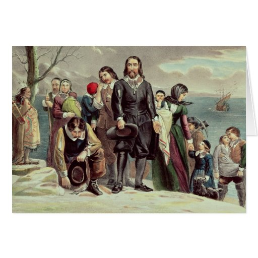 The Landing of the Pilgrims at Plymouth Card