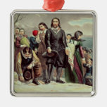 The Landing of the Pilgrims at Plymouth Christmas Tree Ornaments