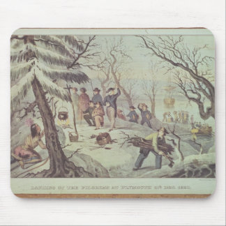 The Landing of the Pilgrims at Plymouth Mouse Mat