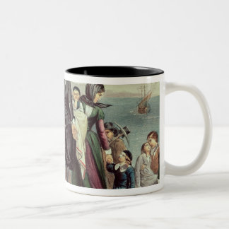 The Landing of the Pilgrims at Plymouth Two-Tone Coffee Mug