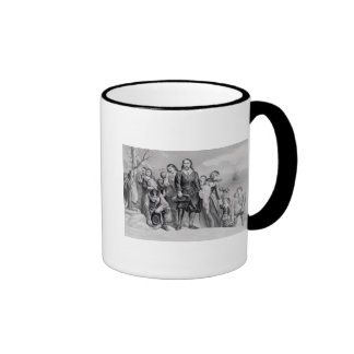 The Landing of the Pilgrims Ringer Mug