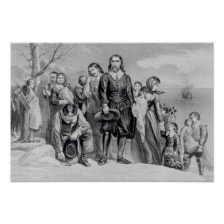 The Landing of the Pilgrims Poster