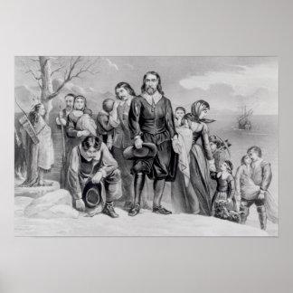 The Landing of the Pilgrims Poster