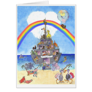 The Landing Party II Noah s Ark Greeting Cards
