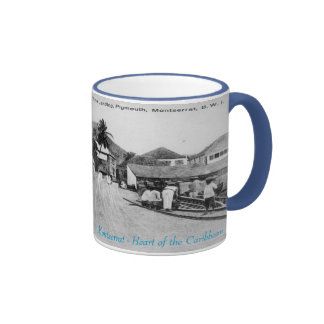 The Landing, Plymouth, Montserrat Ringer Mug
