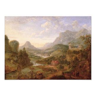 The Landscape of The Rhine 14 Cm X 19 Cm Invitation Card