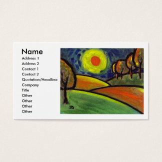 THE LANDSCAPE OIL PASTEL AND ACRYLIC, Name, Add... Business Card