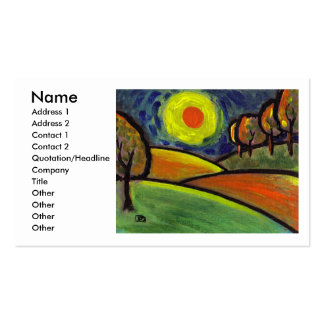THE LANDSCAPE OIL PASTEL AND ACRYLIC, Name, Add... Pack Of Standard Business Cards