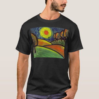 THE LANDSCAPE OIL PASTEL AND ACRYLIC T-Shirt