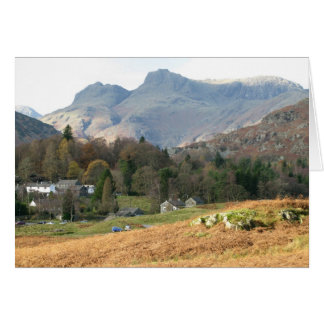 The Langdale Pikes - Blank Greetings Card