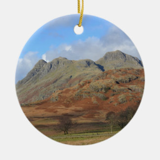 The Langdale Pikes, English Lake District Christmas Ornament